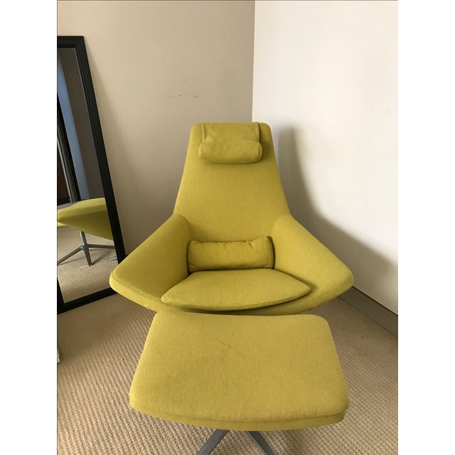 b b italia metropolitan chair ottoman chairish. Black Bedroom Furniture Sets. Home Design Ideas