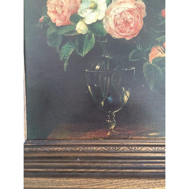 Traditional Moody Floral Painting - Image 4 of 4