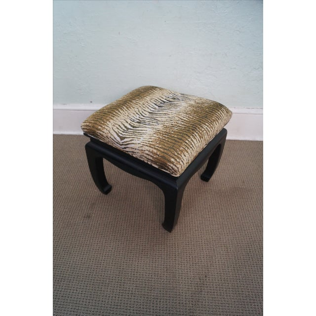 Ebonized Asian Influenced Ottoman/Benches - A Pair - Image 9 of 10