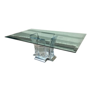 Jeffrey Bigelow Lucite and Nickel Dining Table 1980's