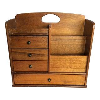 Vintage Wooden Desktop Storage Cabinet