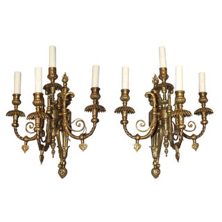 Pair of Bronze Louis XV Sconces