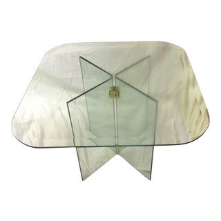 Vintage Leon Rosen for Pace Collection Glass Side Table