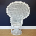 Image of Vintage Mid-Century White Peacock Chair