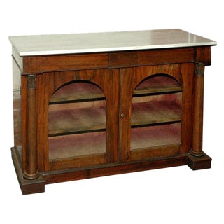 Marble Top Rosewood Chiffoniere