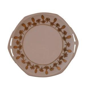 Antique Austrian Porcelain Octagonal Plate