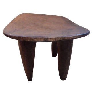African Hand Carved Senufo Stool