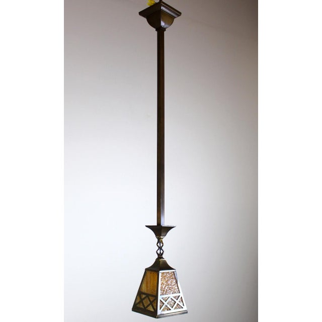 Arts & Crafts Style Pendant Fixture. - Image 2 of 7