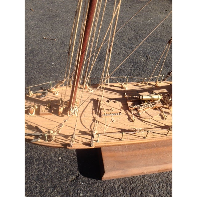 Wood Model Boat - Image 6 of 10