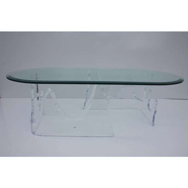 Lion in Frost Vintage Lucite Iceberg Coffee Table - Image 3 of 9