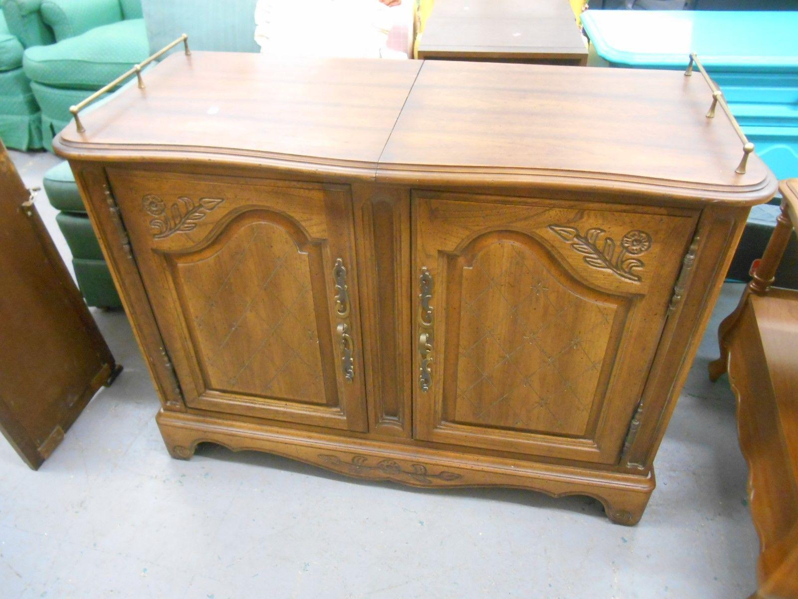 Mid Century Hickory Furniture Co. Rolling Buffet Server   Image 2 Of 6
