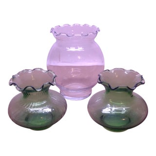 Anchor Hocking Light Green Glass Vases - Set of 3