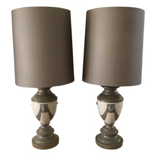 Hollywood Regency Lion Lamps - A Pair
