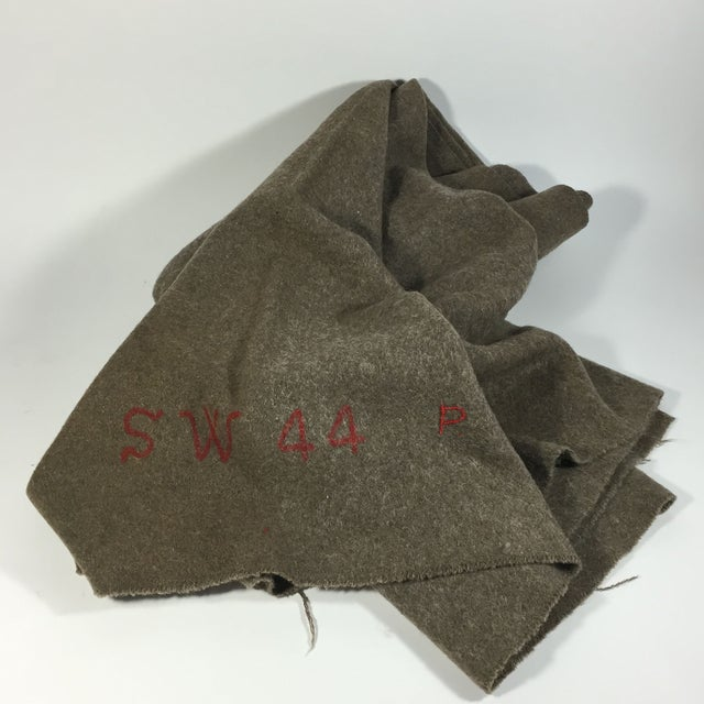 Swiss Army Wool Blanket 1940s - Image 6 of 7