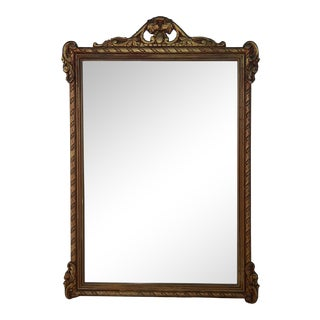 Carved Wood & Gesso Revival Mirror