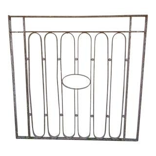 Antique Victorian Iron Gate Window Garden Fence Architectural Salvage Door #612