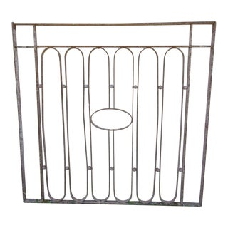 Antique Victorian Iron Gate Window Garden Fence Architectural Salvage Door #612
