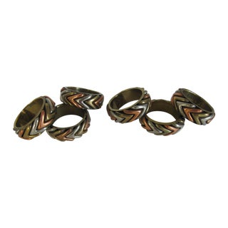 Tri-Colored Napkin Rings - Set of 6