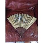 Image of Vintage Paper & Wood Japanese Fan