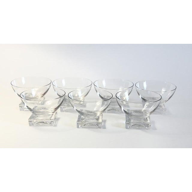 Square Base Champagne Glasses - Set of 7 - Image 3 of 5