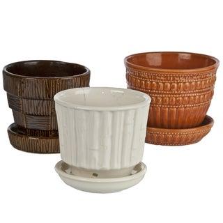 Vintage McCoy Ceramic Jardinieres - Set of 3