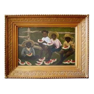 Early Folk Art Watermelon Painting