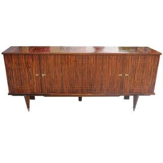 French Art Deco Exotic Macassar Ebony Sideboard