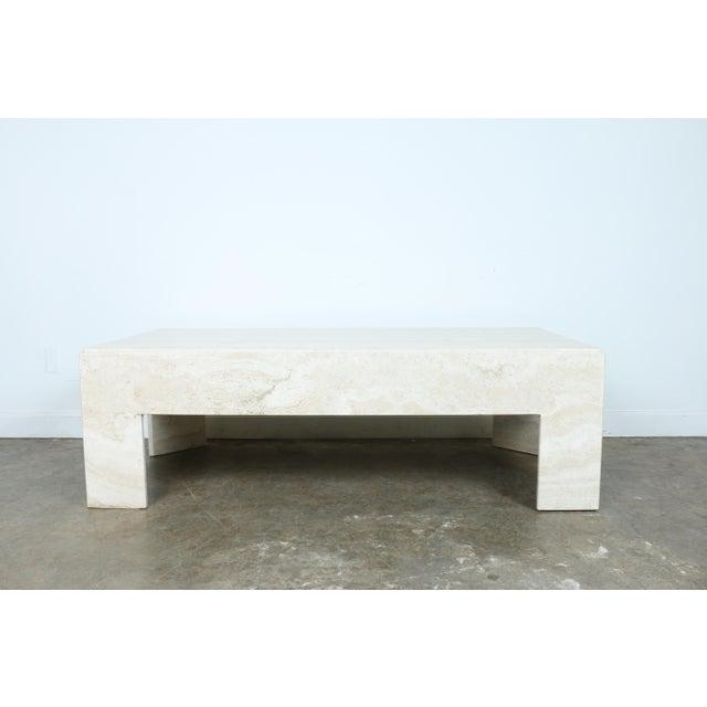 White Travertine Coffee Table Chairish