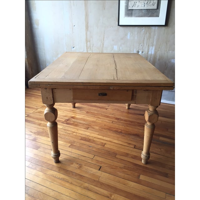 Rustic Italian Antique Dining Table - Image 2 of 9