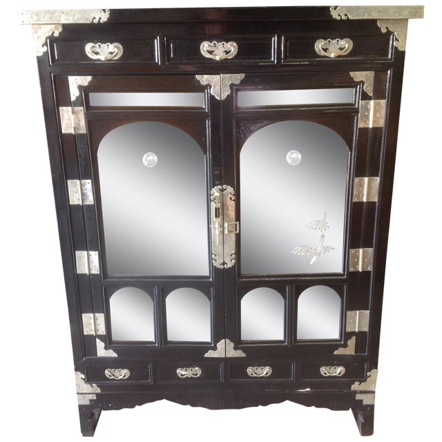 Black Lacquer Chinoiserie Cabinet - Image 1 of 10