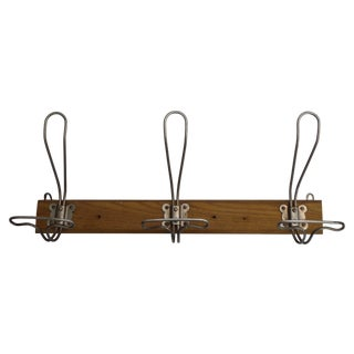 Antique 1930s French Coat & Hat Rack