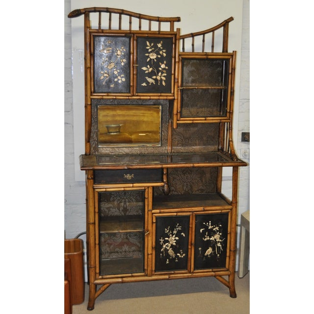 Victorian japanese bamboo etagere chairish for Etagere japonaise