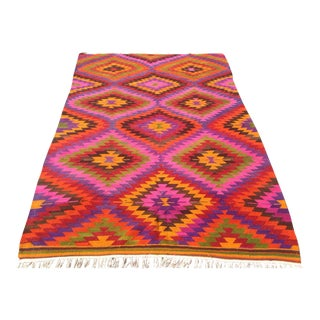 Vintage Turkish Kilim Rug - 5′10″ × 8′11″