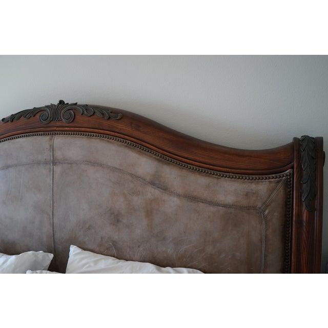 Henredon California King Sleigh Bed Frame - Image 3 of 10