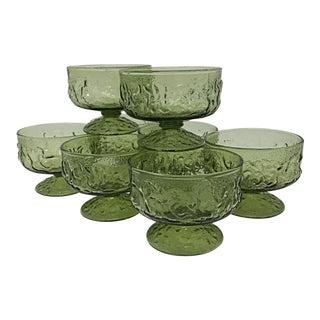 Green Lava Glass - Set of 8