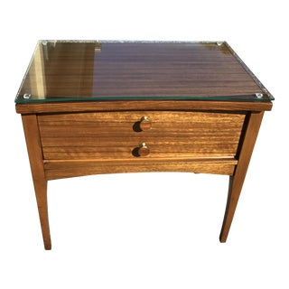 Lane Mahogany & Walnut Nightstand
