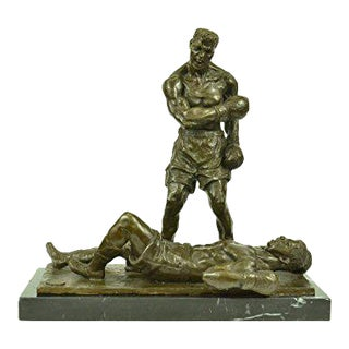 Muhammad Ali and Sonny Liston Boxing Collector Edition Bronze Sculpture