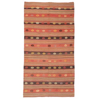 Kilim with Decorated Bands