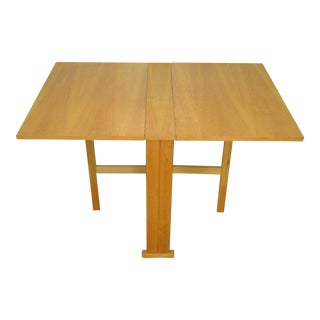 Mid Century Modern Narrow Drop Leaf Dining Table