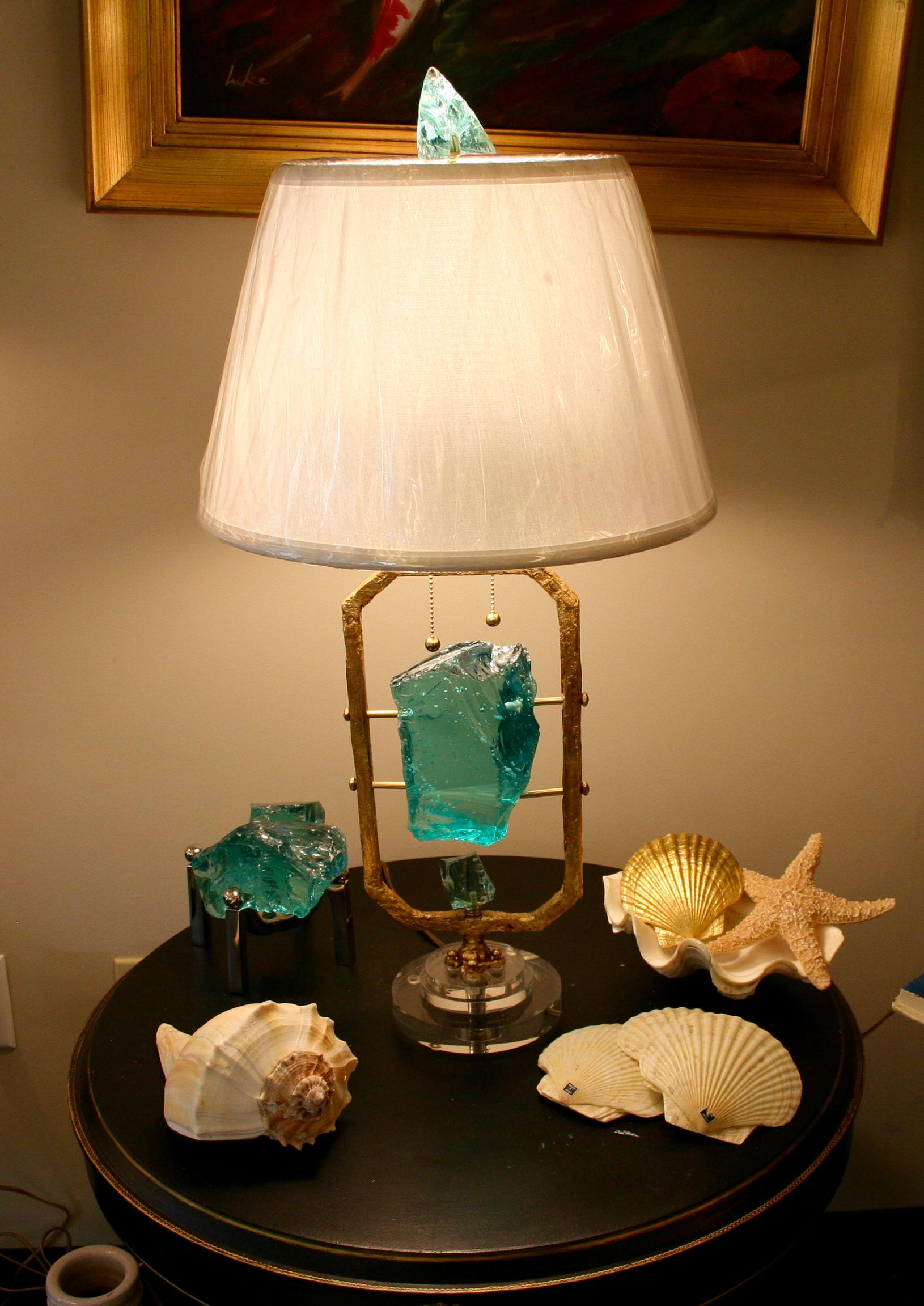 Glass Rock Table Lamp   Image 8 Of 8