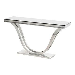 Art Deco Black Glass Console Table