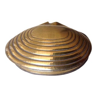 Brass Clam Shell Keepsake Box