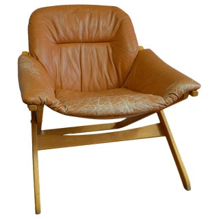 1960s Mobel of Sweden Leather Lounge Chair