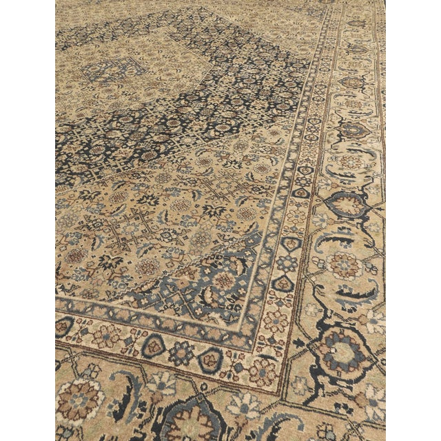 Antique Persian Tabriz Rug - 10′ × 13′