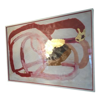"""Zoe Bios """"Pippa"""" Abstract Gold Leaf Painting"""
