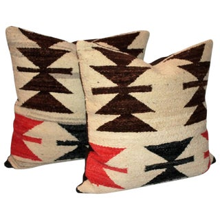 Pair of Early Geometric Navajo Pillows