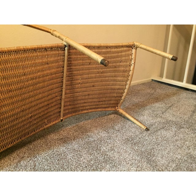 1950s Scarce Francis Mair Mid-Century Modern Rattan Low Slung Lounge Chair - Image 7 of 8