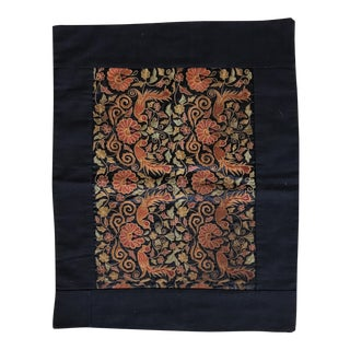 Vintage Asian Embroidered Silk Textile