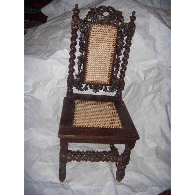 Restored 18th Century Spanish Carved Walnut Amp Cane Chair