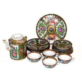 19th C. Chinese Tea Set for 4